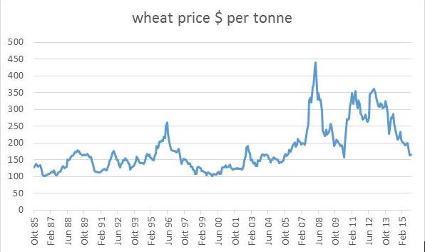 Wheat Price per tonne