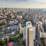 View from Ponte Tower unto the skyline of Johannesburg.
