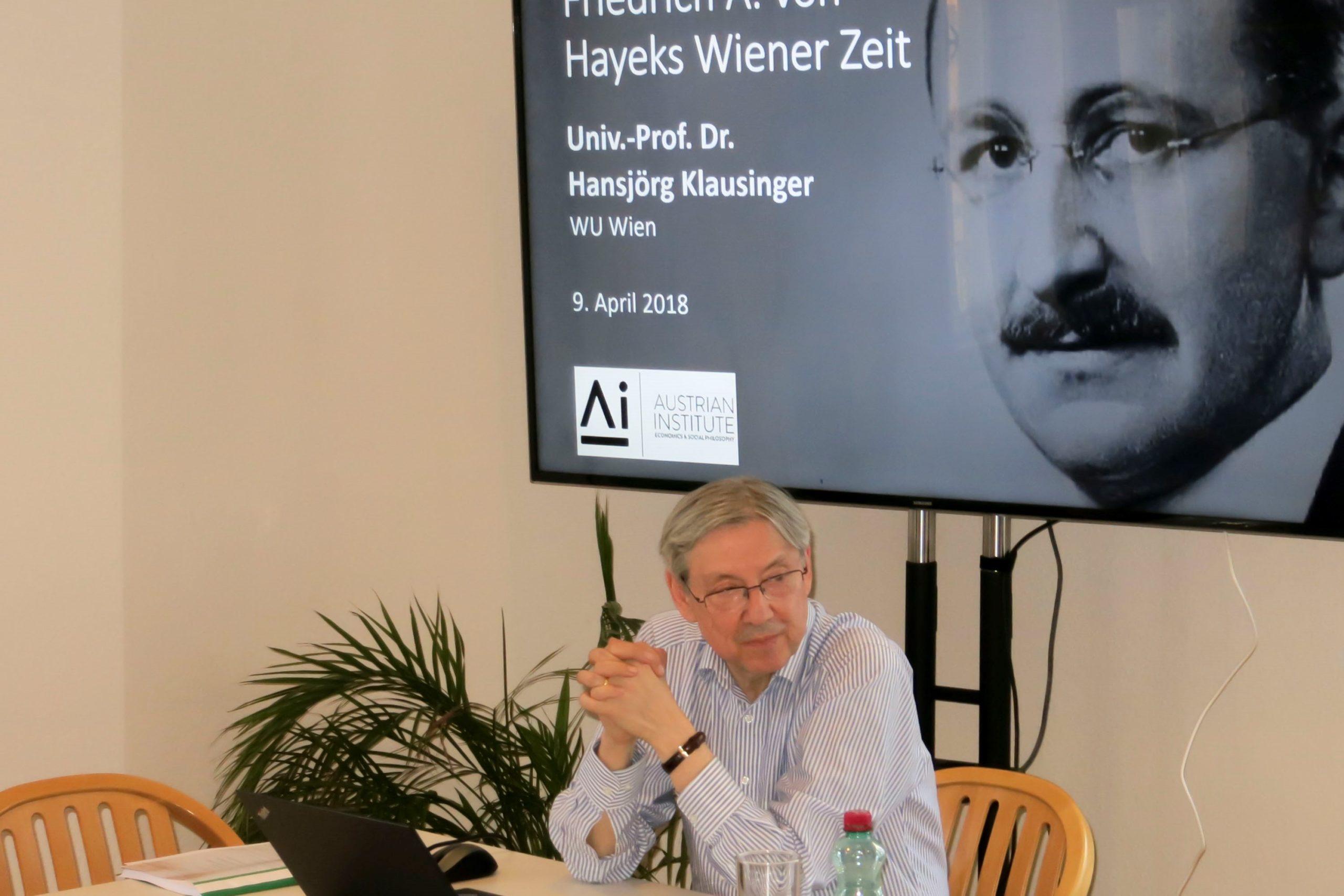 Friedrich A.von Hayek –deutschnational erzogen, zum Liberalen gereift