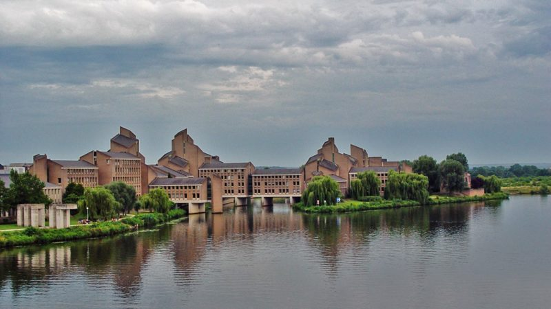 Provincial Government Buildings on the Meuse are depicted above, where the Maastricht Treaty (formally, the Treaty on European Union, TEU) was signed on 7 February 1992.
